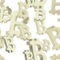 Seamless background made of bitcoin signs
