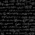 Seamless background of many formulas vector written in chalk on blackboard Royalty Free Stock Photography