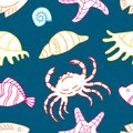 Pattern of the sea creatures Royalty Free Stock Photo