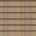 Seamless background mat of bamboo tied with thread Royalty Free Stock Images