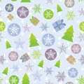 Seamless background Merry Christmas Card, green,