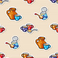 Seamless background milk and condensed milk texture mugs cups jugs Royalty Free Stock Photography