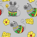Seamless background with mouses Stock Photos