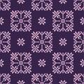 Seamless background with Norwegian snowflakes.
