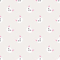 A Seamless background nursery cute lovely cat face