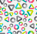 Seamless background with paper geometrical figures Royalty Free Stock Images