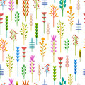 Seamless background with a pattern of geometric flowers. Floral background. Summer background with the plant design in Royalty Free Stock Photo