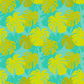 Seamless background pattern leafs tropical liana Stock Photo
