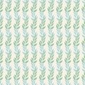 Seamless background pattern of leaves and branches leaves in pastel shades of green and blue on a beige background . Abstract leaf Royalty Free Stock Photo