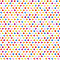 Seamless background pattern with multicolored dots Royalty Free Stock Photo