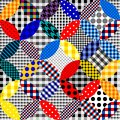 Imitation of a patchwork