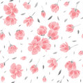 Seamless background pattern - pink Sakura blossom