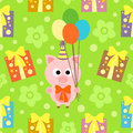 Seamless background with pig funny Royalty Free Stock Images