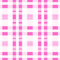 Seamless background pink of plaid pattern vector Royalty Free Stock Image