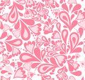 Seamless background pink splash pattern vector with hearts illustration Royalty Free Stock Photography