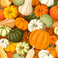 Seamless background with pumpkins various Stock Photos