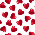 Seamless background with red hearts. Royalty Free Stock Photos