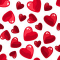 Seamless background with red hearts. Stock Photography