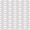 Seamless background relief white and gray wavy Stock Photo