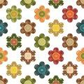 Seamless background with scrapbook flowers Royalty Free Stock Photography