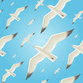 Seamless background with seagulls pattern Stock Images