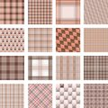 Seamless background set of plaid pattern, illustration Royalty Free Stock Photo