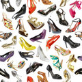 Seamless  background from shoes Royalty Free Stock Photos