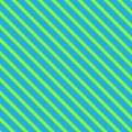 Seamless background with slanted stripes. Bright green lines on blue background Royalty Free Stock Photo
