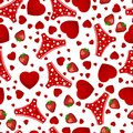 Seamless background by st valentine s day Stock Photo