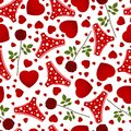 Seamless background by st valentine s day Royalty Free Stock Photography