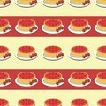 Seamless background with strawberry pies Royalty Free Stock Image