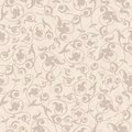 Seamless background in the style damask beige Stock Photo