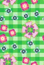 Seamless background with stylized flowers_2 Royalty Free Stock Photo