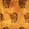 Seamless background with traditional patterns american indian Royalty Free Stock Image