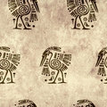 Seamless background with traditional patterns american indian Royalty Free Stock Images