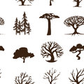 Seamless background trees forest hipster Stock Photos