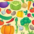 Seamless background vegetable eps vector illustration Stock Photos