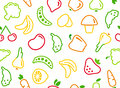 Seamless background with vegetables and fruit Royalty Free Stock Images