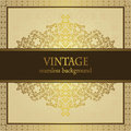 Seamless background with vintage frame in retro style Stock Photography