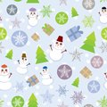 Seamless background Vintage Merry Christmas Card,