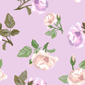 Seamless background of vintage roses vector illustration Royalty Free Stock Photography