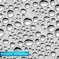Seamless background with water drops vector Royalty Free Stock Photography