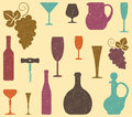 Seamless background on a wine theme Royalty Free Stock Photography