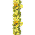 Seamless background yellow exotic flowers Royalty Free Stock Photo