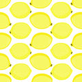 Seamless background with yellow lemons. Cute vector lemon pattern. Royalty Free Stock Photo