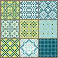Seamless backgrounds Collection - Vintage Tile Royalty Free Stock Photo