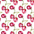 Seamless backround with cherries