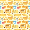 Seamless bake tool pattern Royalty Free Stock Photography