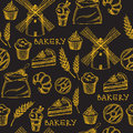Seamless bakery pattern. Retro design. Vector illustration.