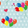 Seamless balloon background Royalty Free Stock Images